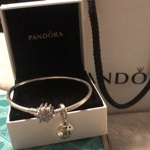Pandora bangle bracelet & better with you charm♥️